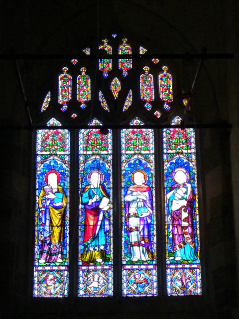 Stained glass window, St George's Church