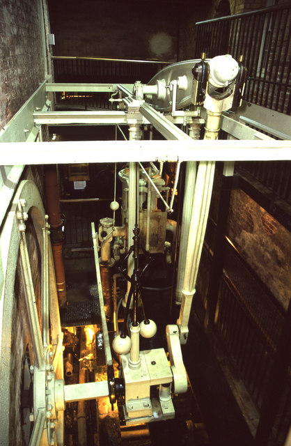 Quarry Bank Mill, Styal - beam engine