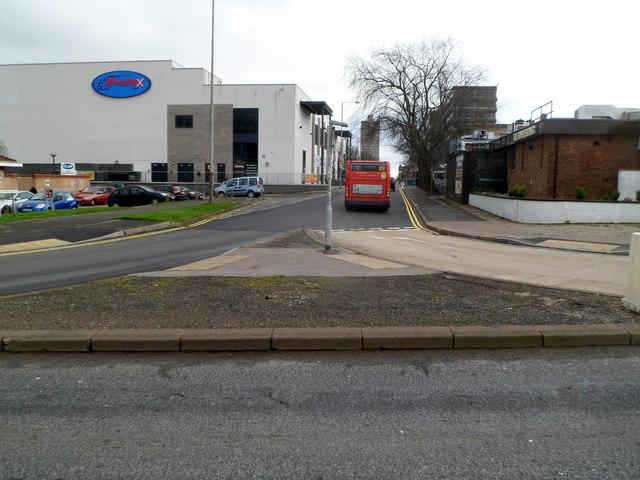 Y-junction of Caradoc Road and Glyndwr Road, Cwmbran