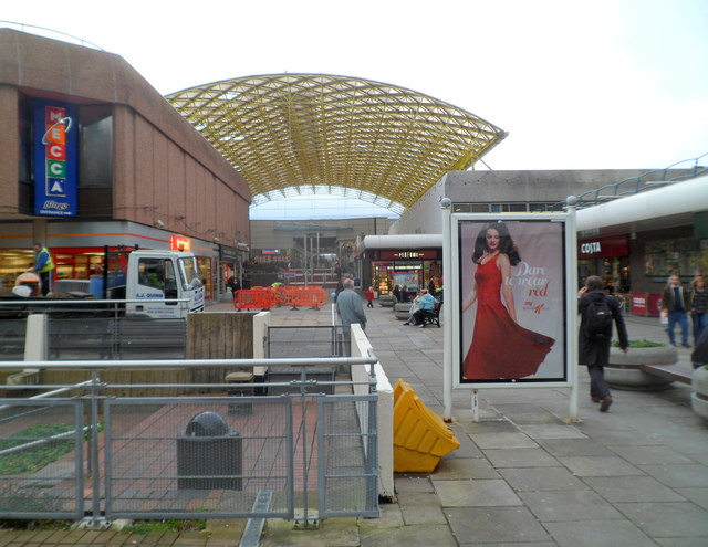 Yellow canopy, Cwmbran Shopping Centre