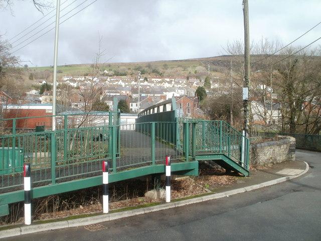 Forge Road footbridge, Machen