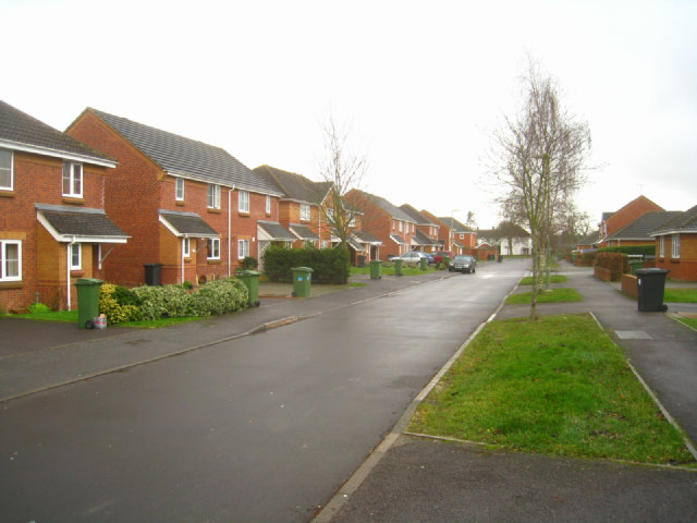 Looking along Austen Grove