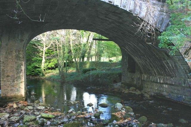 Rail bridge over the Avon, South Brent
