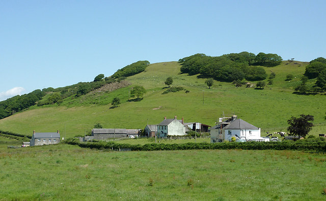 Farm buildings north of Tregaron, Ceredigion
