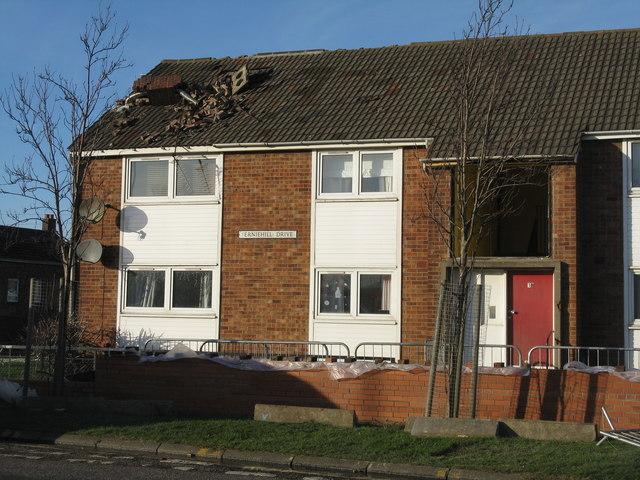 Storm damage - Ferniehill Drive