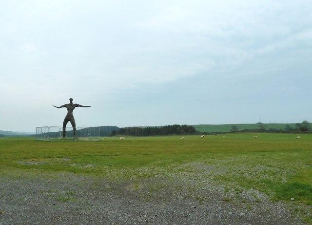 In the Wickerman field, looking northeast