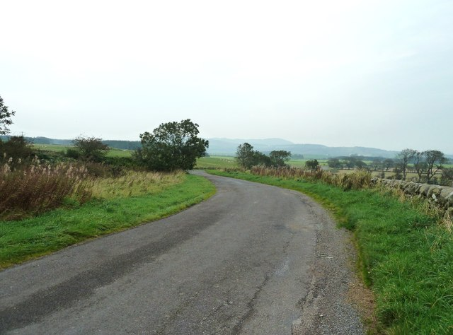 Lay-by off the A711 looking north