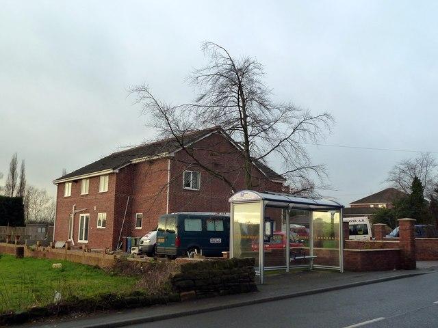 Bus shelter on Darton Lane