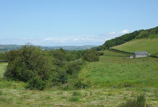 Course of dismantled railway north of Tregaron, Ceredigion