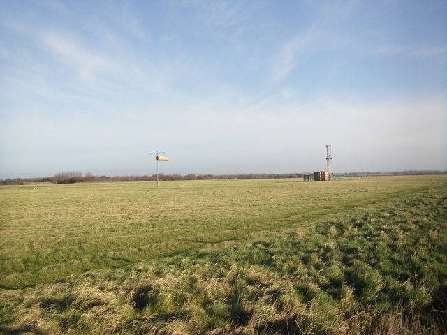 Wind sock and radio mast, Blackpool Airfield
