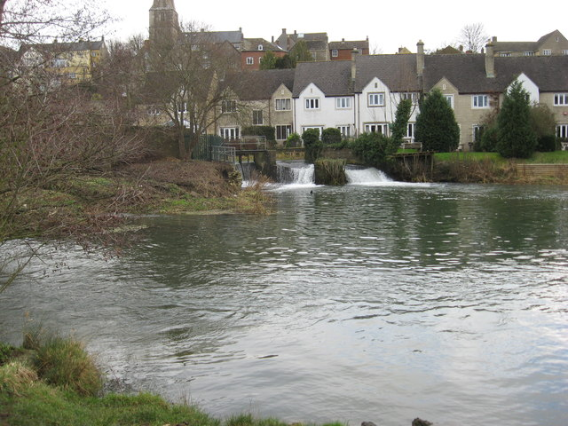 A weir on the river Avon in Malmesbury