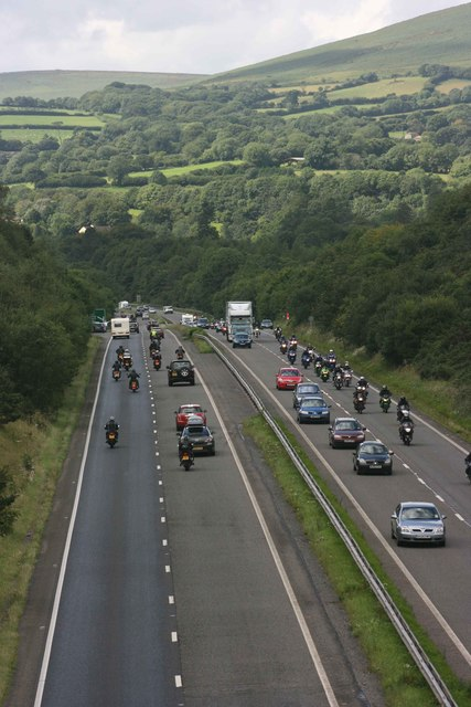 Plymouth Megaride on the A38 in the foothills of Dartmoor