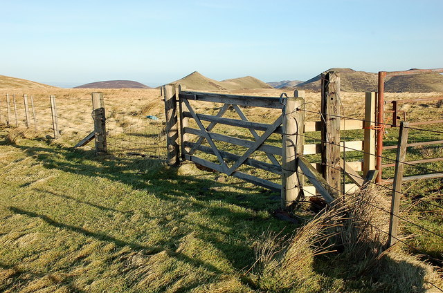 Summit fence and gate, Spittal Hill