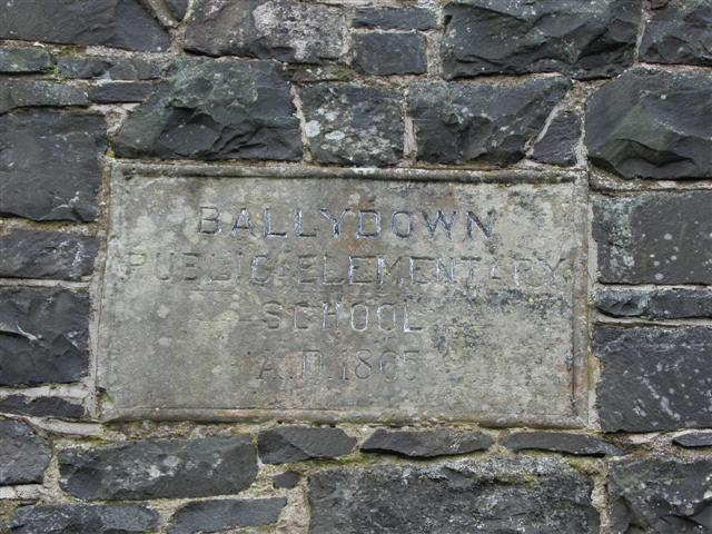 Plaque, Ballydown Public Elementary School