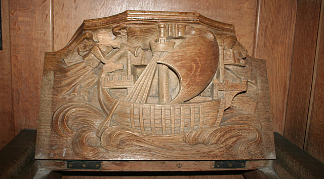 Misericord in Dalmeny Kirk