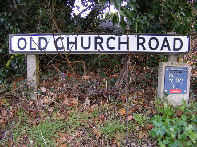 Old Church Road sign