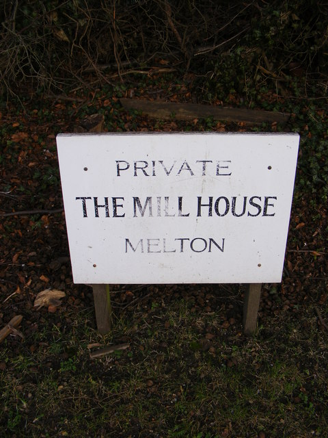 The Mill House, Melton sign
