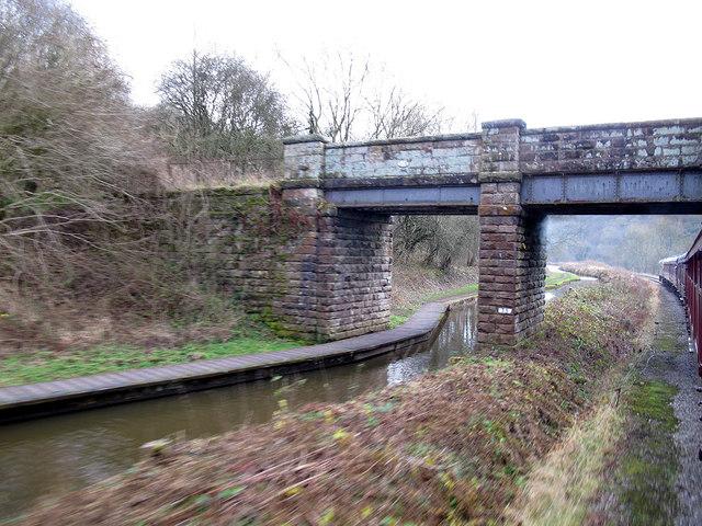 Footbridge at Consall