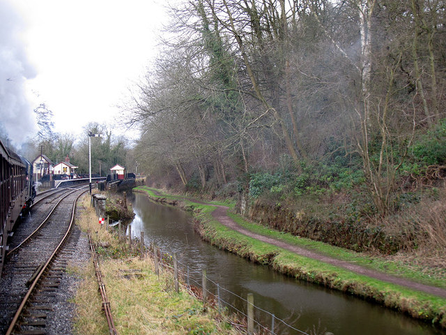 Southern approach to Consall station