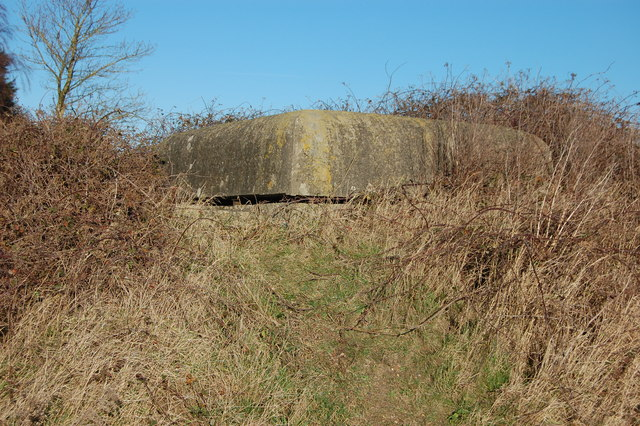 Pillbox by the side of Wheeler's Lane