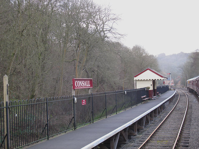 Consall station, southbound platform