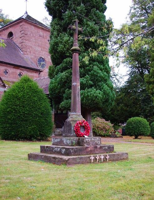 Beckbury Memorial Cross (war memorial), Badger Lane, Beckbury