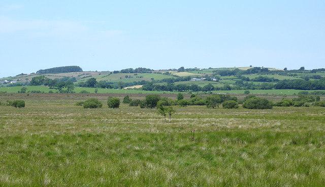 View across Cors Caron, Ceredigion