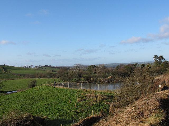 New pond by the railway near Longshaw