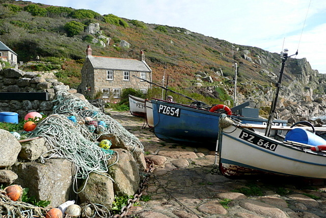 Fishing boats at Penberth Cove