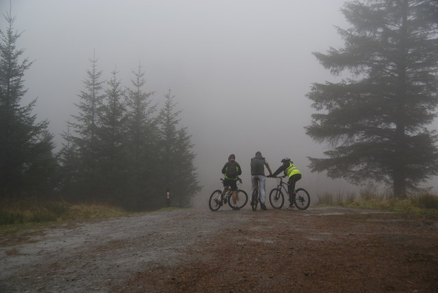 Conference of mountain-bikers