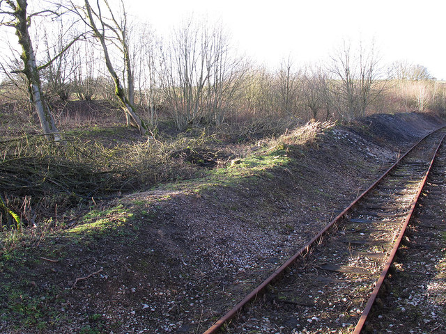 Disused siding at Cauldon Low