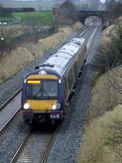 Train passing Turnhouse