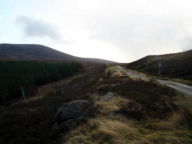 Minor road through Glen Loth