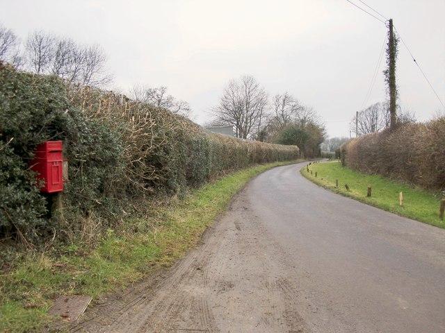 Hogden Lane, looking towards Stonyrock