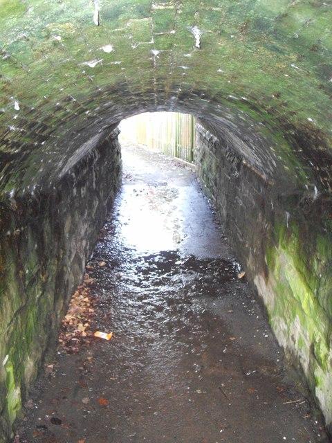 Foot tunnel beneath railway, Rhiwderin