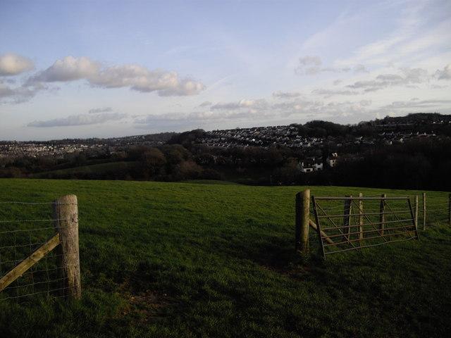 Farmland gateway, near Rhiwderin