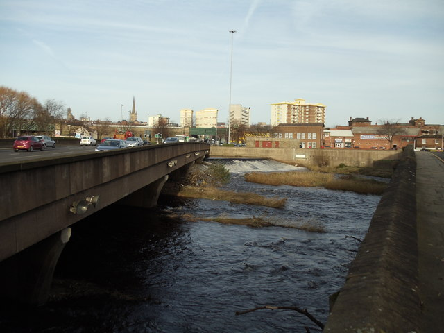 The Old and New Bridges over the River Calder, Wakefield