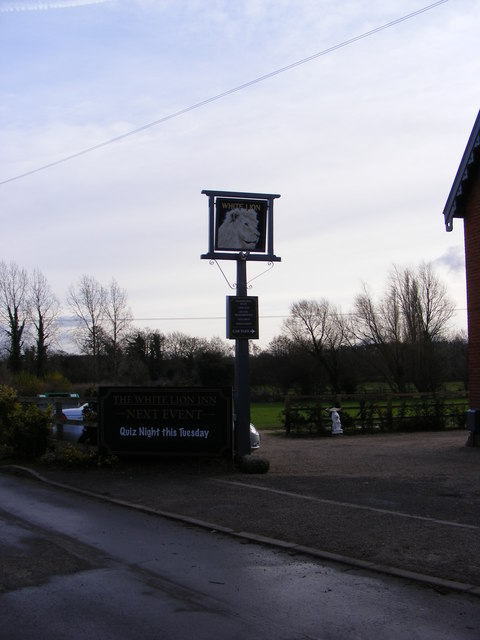 The White Lion Public House sign