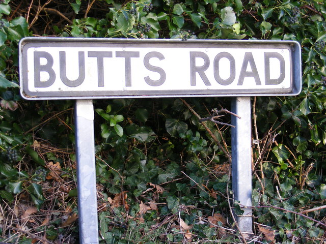 Butts Road sign