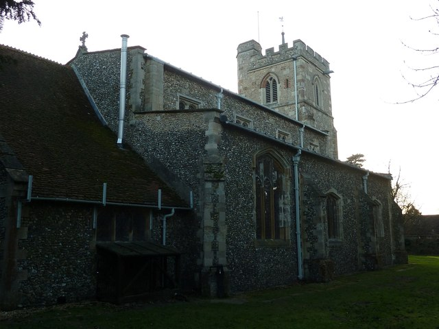 All Saints, Caddington - rear view