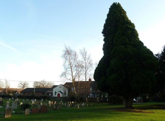 Caddington Union Chapel from All Saints churchyard