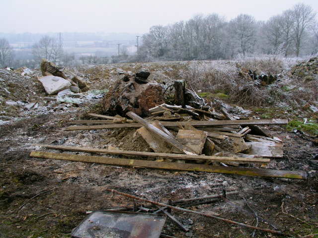 Bonfire site at Worms Hill Bethany School