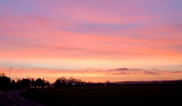Colourful dusk over Twigworth 1
