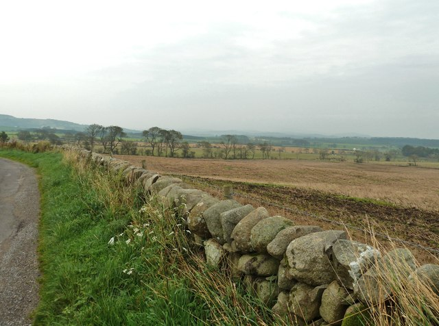 Looking northeast from the viewpoint on the A711