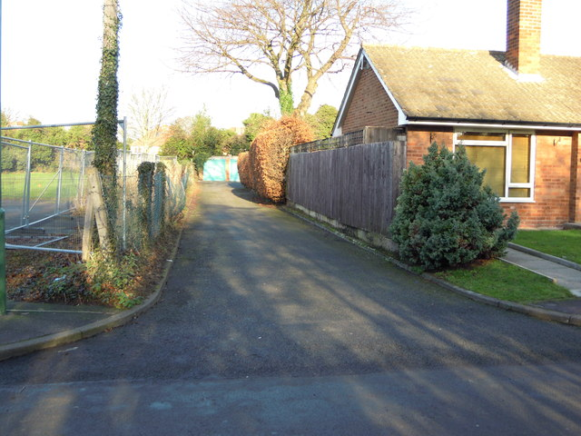 Access road to garages behind Caldwell Grove