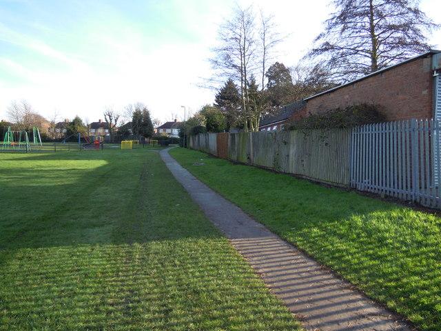 Path through Recreation Ground