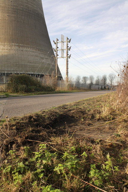 Site of eastern benchmark at Didcot Power Station