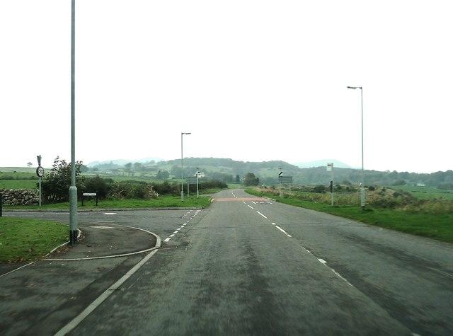 Leaving Auchencairn on the A711