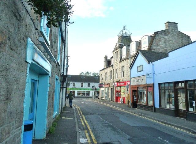 Alpine Street, looking southwest