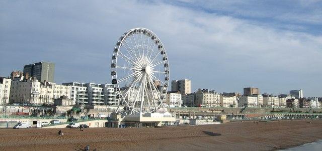 Brighton Wheel, viewed from the pier